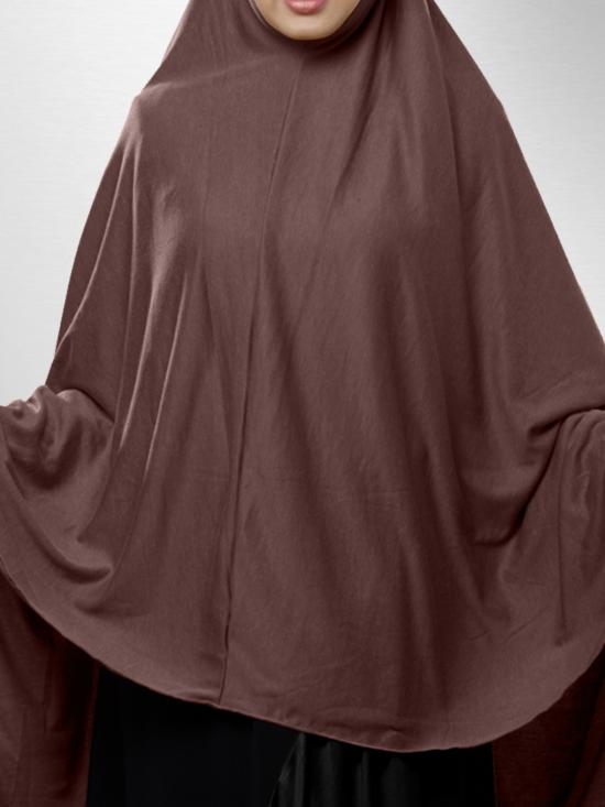 Zakia Ready to wear long, covering hijab In Coco