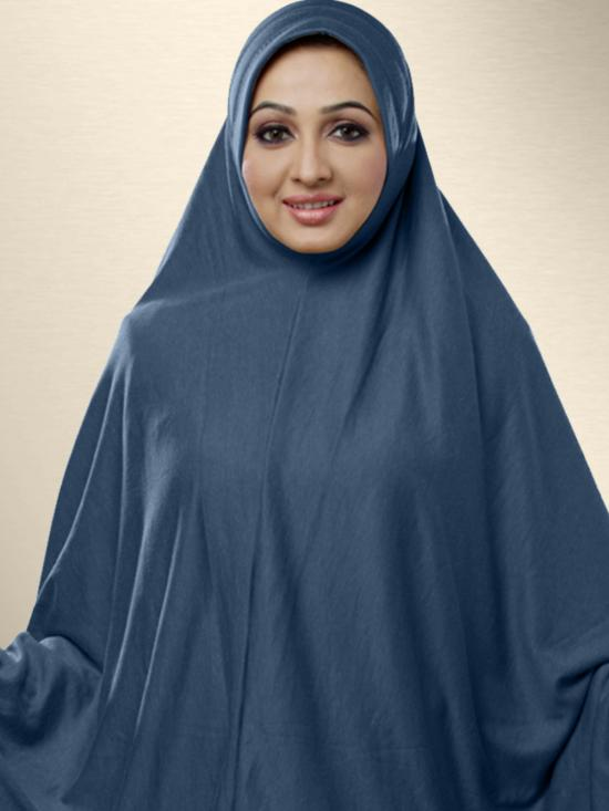 Zakia Ready to wear long, covering hijab In Grey