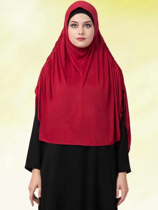 Jersey Viscose  Stole Hijabs In Maroon