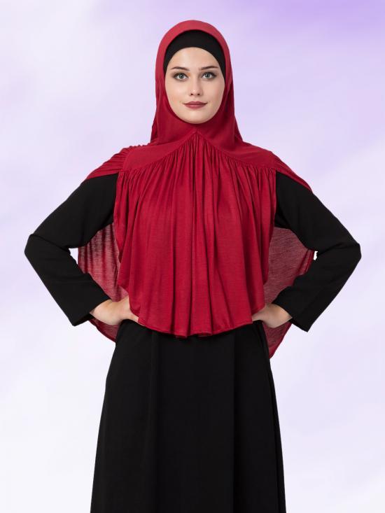 Bashariya Jersey Viscose  Stole Hijabs In Maroon