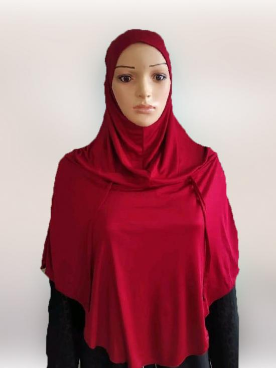 Mumina Ready To Wear Modest Hijab In Maroon
