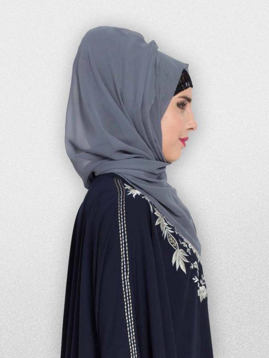 Set of Two Stole Super Fine Georgette Hijabs in Grey and Brown