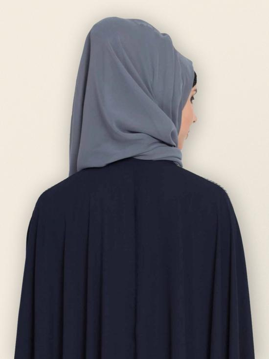 Set of Two Stole Super Fine Georgette Hijabs in Grey and Wine
