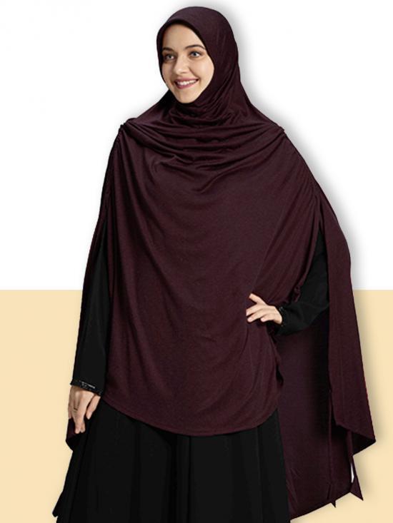 Ulema DD Soft Drip Drop Fabric Khimar In Wine