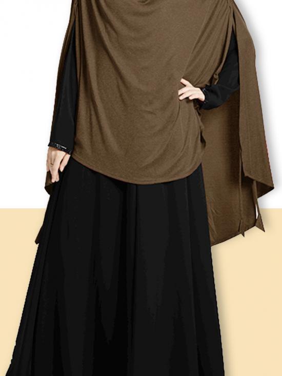 Ulema DD Soft Drip Drop Fabric Khimar In Formal Grey