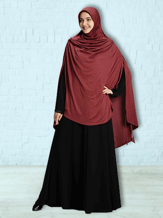 Ulema DD Soft Drip Drop Fabric Khimar In Maroon