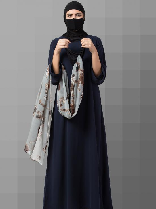 Chiffon Maryam Hijabs In Grey Print