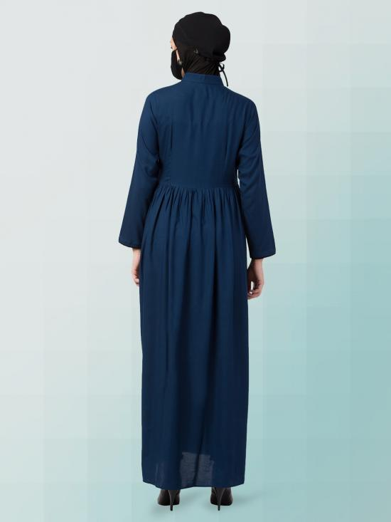 Rayon Elegant And Modest Dress In Blue