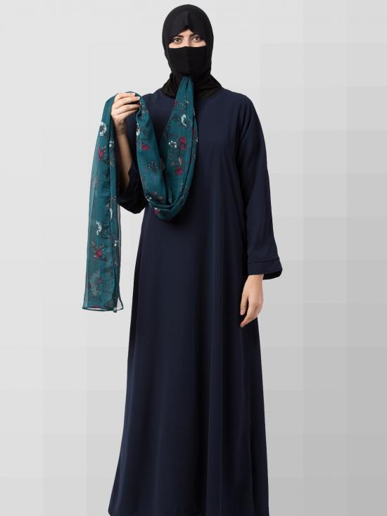 Chiffon Maryam Hijabs In Green Print