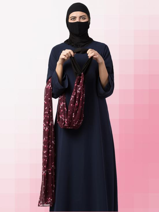 Chiffon Maryam Hijabs In Brown Print