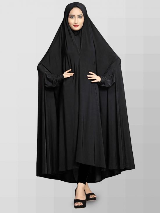 Lycra Chaderi Burkha In Black