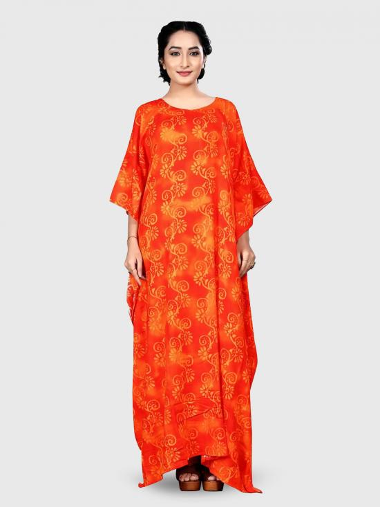 Rayon Soft Cotton Kaftan In Multicolor
