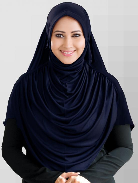 Faeezah Hijab In Navy