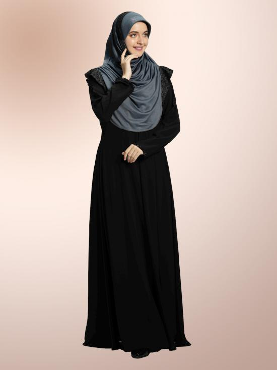 Naaz Knitted Icra Fabric Instant Hijab In Grey