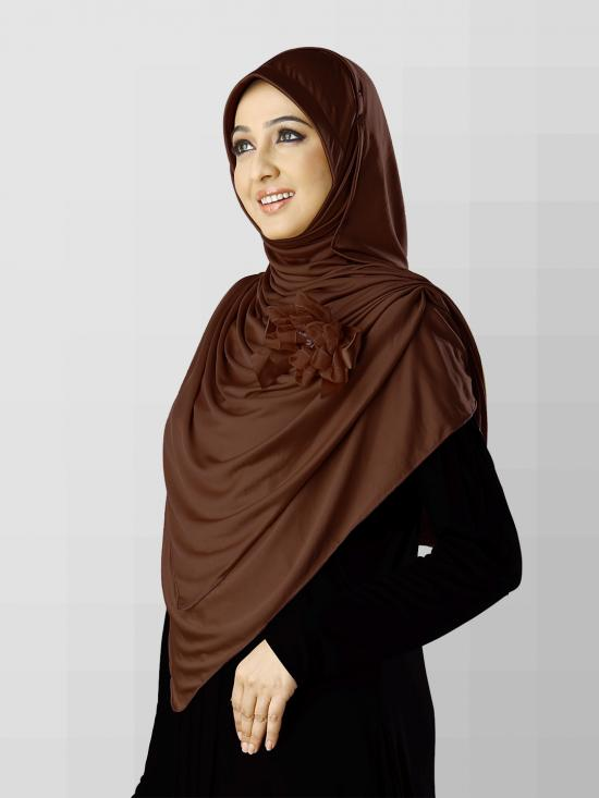 Anarkali Xtra Soft Knitted Icra Instant Hijab in Cocco