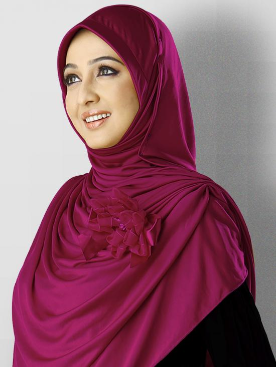 Anarkali Xtra Soft Knitted Icra Instant Hijab in Purple