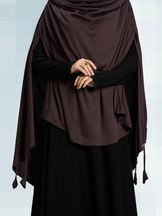 Ulema DD Soft Drip Drop Fabric Khimar In Wildberry
