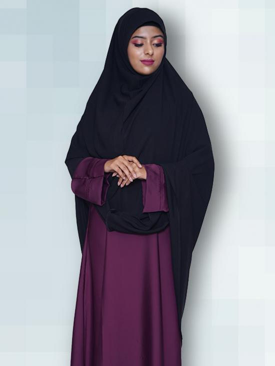 Salafi Plain BSY Instant Hijab in Black