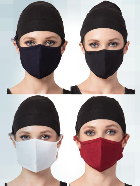 Jersey Viscose 8 Pieces Mask Combo In Multi Colors