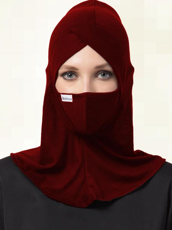 Jersey Viscose Under Hijab Cap and Mask Combo In Multi Colour