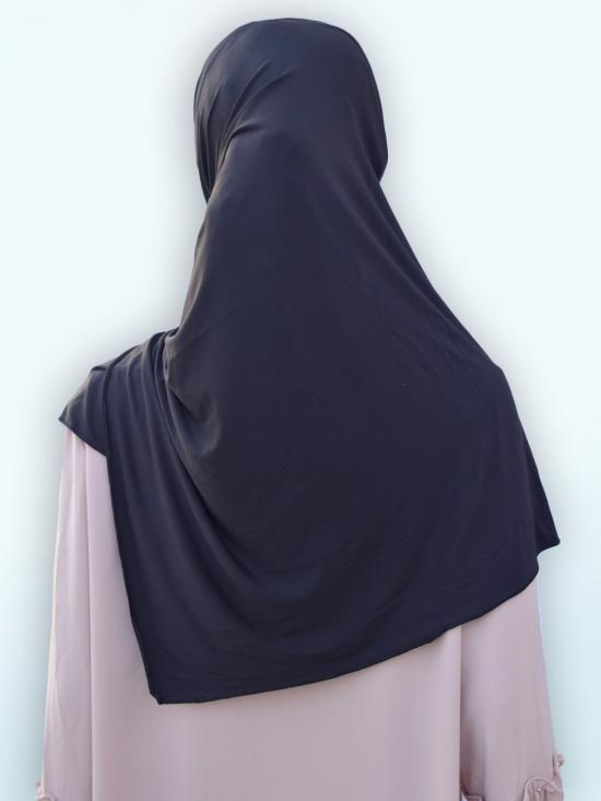 100% Polyster Lycra Turban Style Instant Hijab In Black