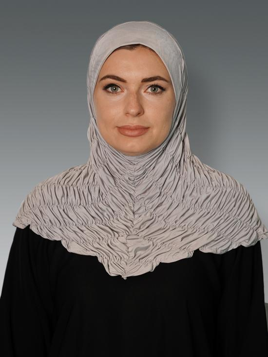 Zarah instant Hijab With Elastic Bands In Grey
