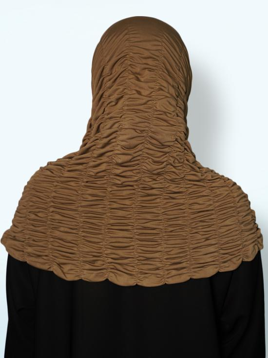 Zarah instant Hijab With Elastic Bands In Khaki