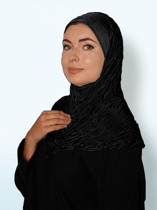 Zarah instant Hijab With Elastic Bands In Black