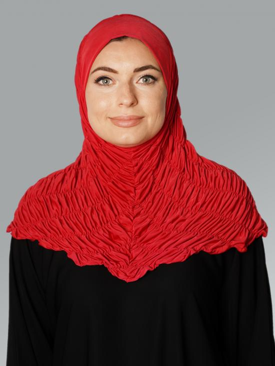 Zarah Instant Hijab With Elastic Bands In Red