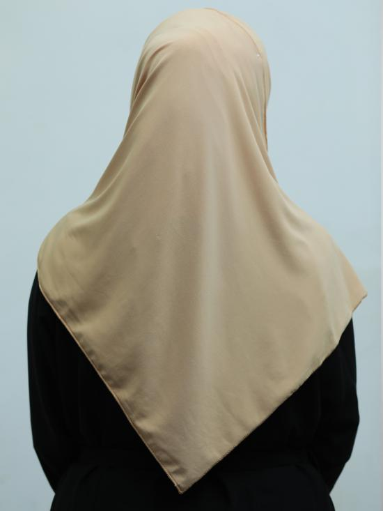 100% Polyster Lycra Instant Hijab In Beige