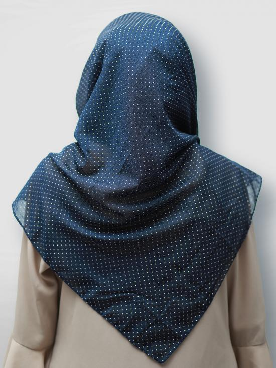 Cotton Mix Stole With Golden Dots In Black