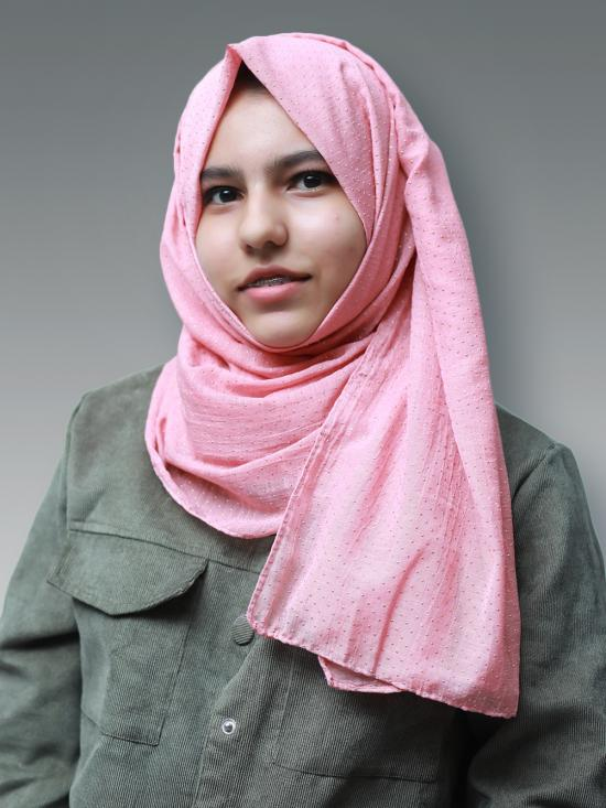Cotton Mix Stole With Golden Dots In Dusty Rose