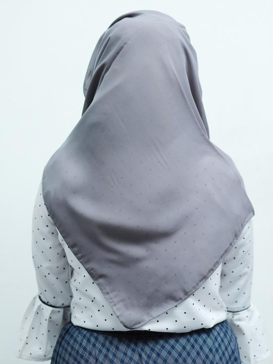 100% Polyster Plain Stole In Grey