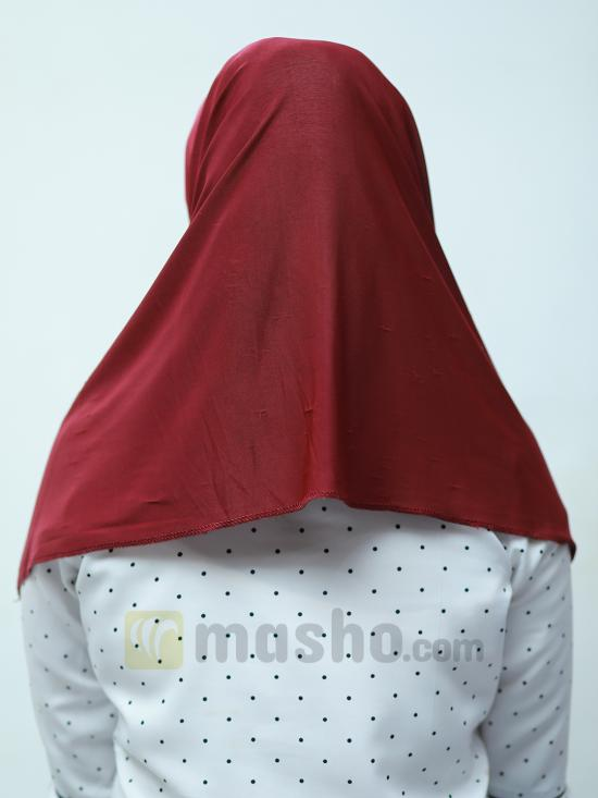Turban Soft Knitted Lycra Instant Hijab With Shining Band In Maroon And Peacock Blue