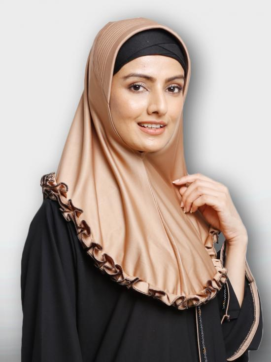 Faiqa Instant Hijabs In Golden Wheat