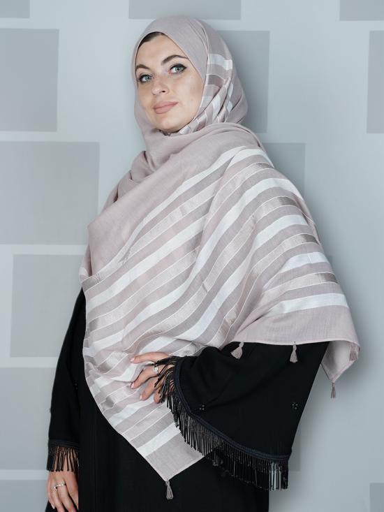 Premium Cotton Stole With Tassel Work In Careys Pink