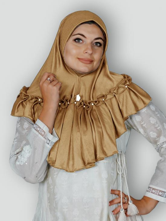 Aaima Instant Hijabs In Golden Wheat