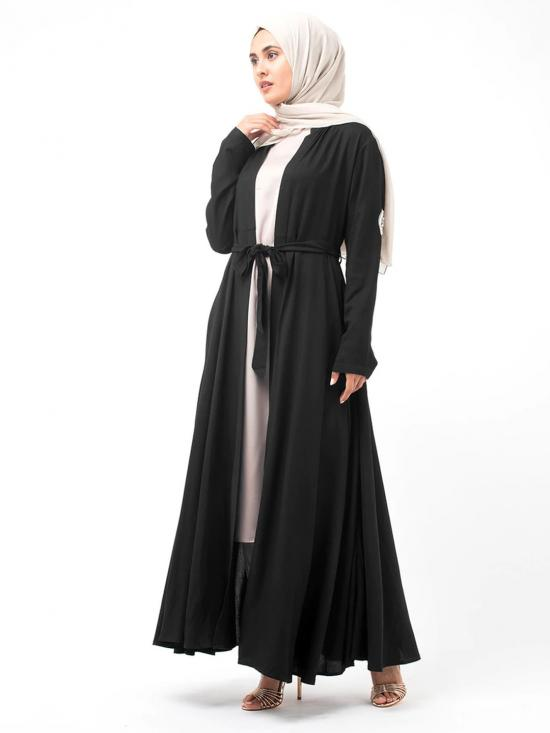 100% Rayon Kimono With Hand Embroidery In Black