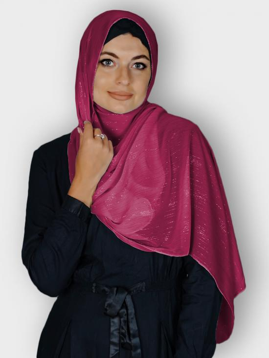 Georgette Stole With Slitted Polyester Thread Work in Maroon