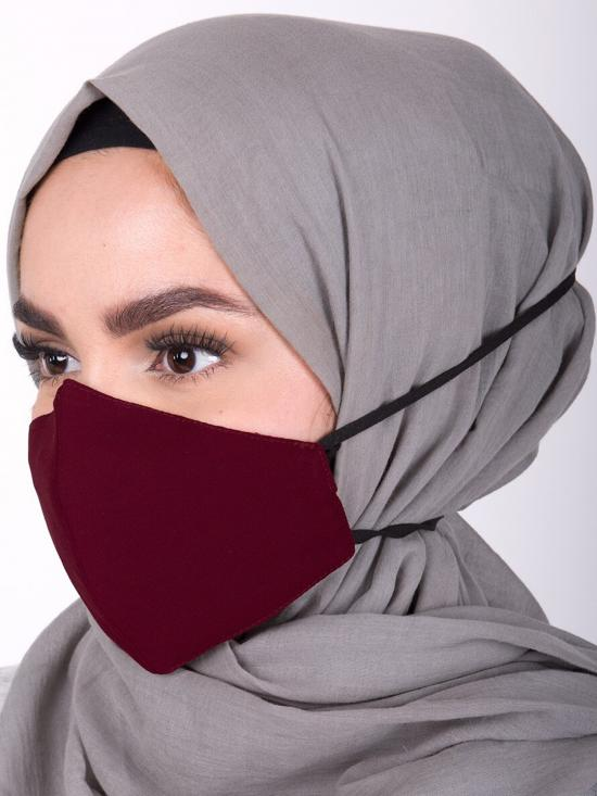 Hijab Friendly Toggle Fabric Mask In Red