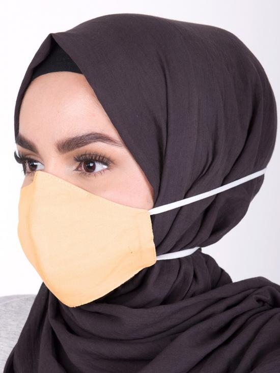 Hijab Friendly Toggle Fabric Mask  In Sunset Gold