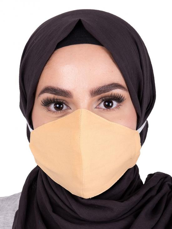 Haze Hijab Friendly Toggle Fabric Mask In Golden