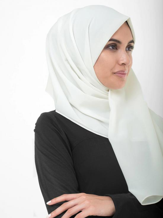 Poly Georgette Scarf In Bright White