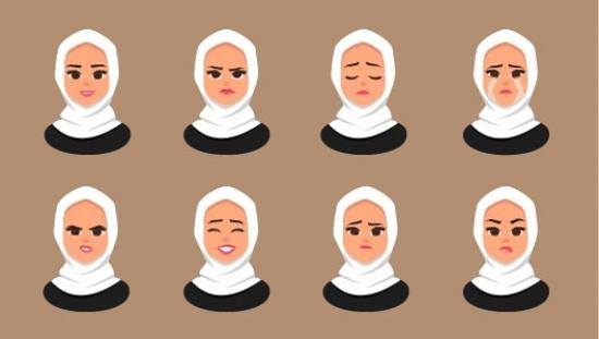 womans-emotions-in-hijab