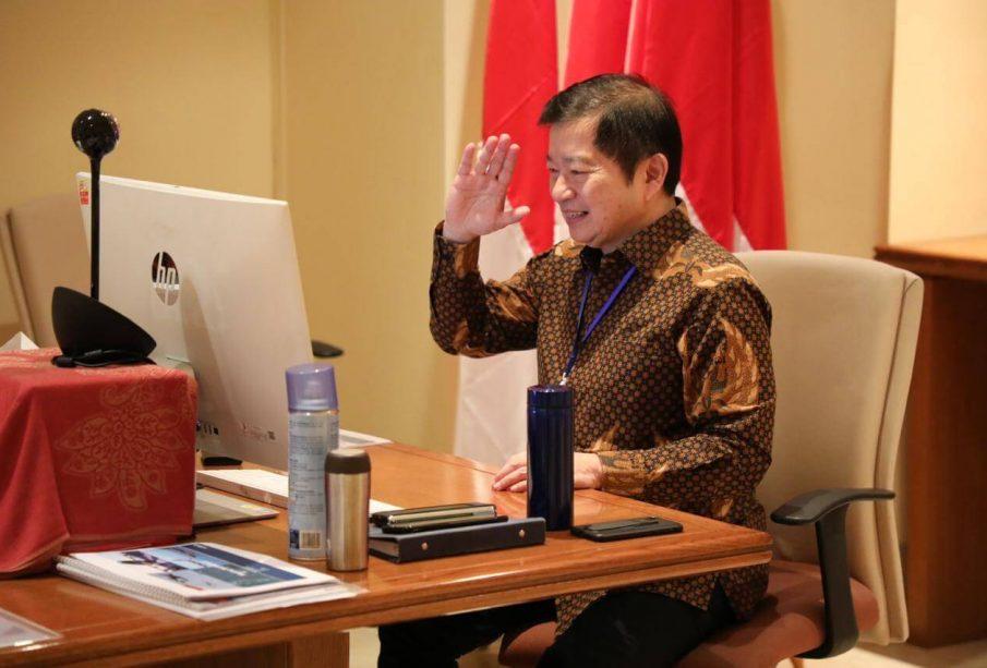 Menteri Suharso dalam Musyawarah Perencanaan Pembangunan Provinsi (Musrenbangprov) DKI Jakarta dalam rangka Penyusunan Rencana Kerja Pemerintah Daerah (RKPD) 2021 yang diselenggarakan secara daring, Kamis (23/4).