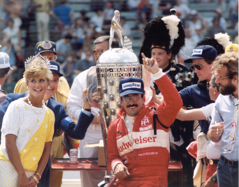 Bobby Rahal wins Indianapolis 500 1986