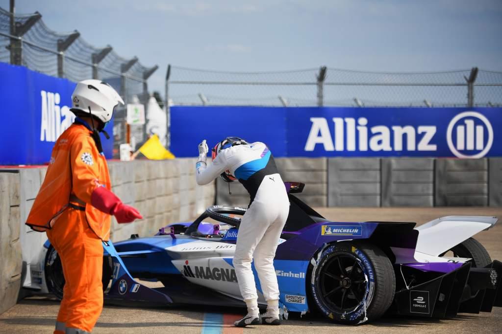 Jake Dennis BMW Berlin Formula E crash 2021