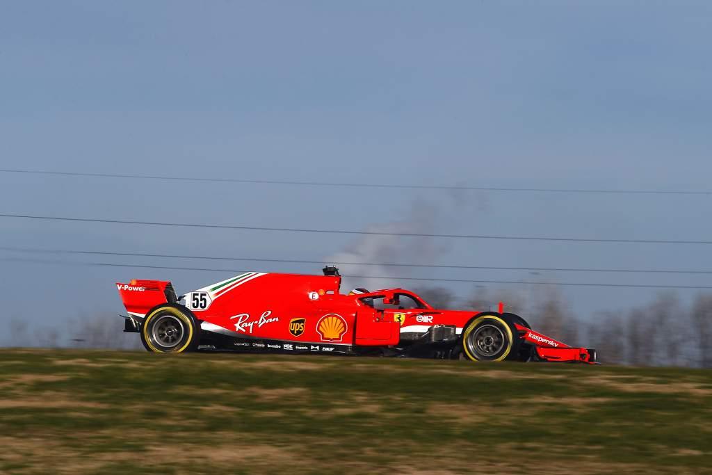 Carlos Sainz Jr Ferrari F1 Fiorano test
