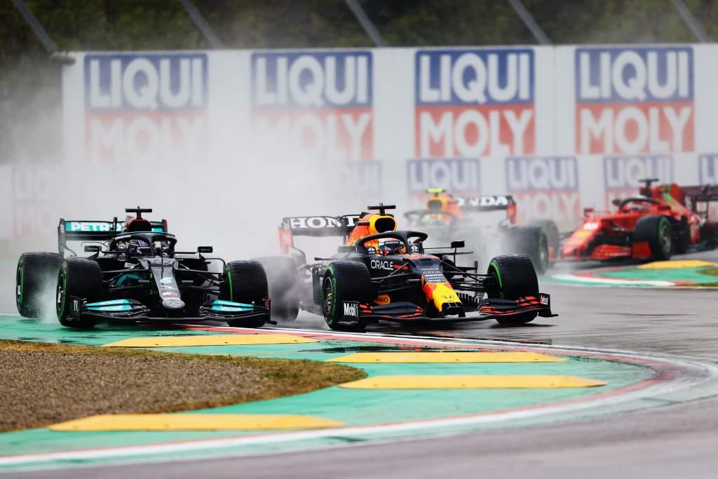 F1 Grand Prix Of Emilia Romagna Lewis Hamilton Max Verstappen F1