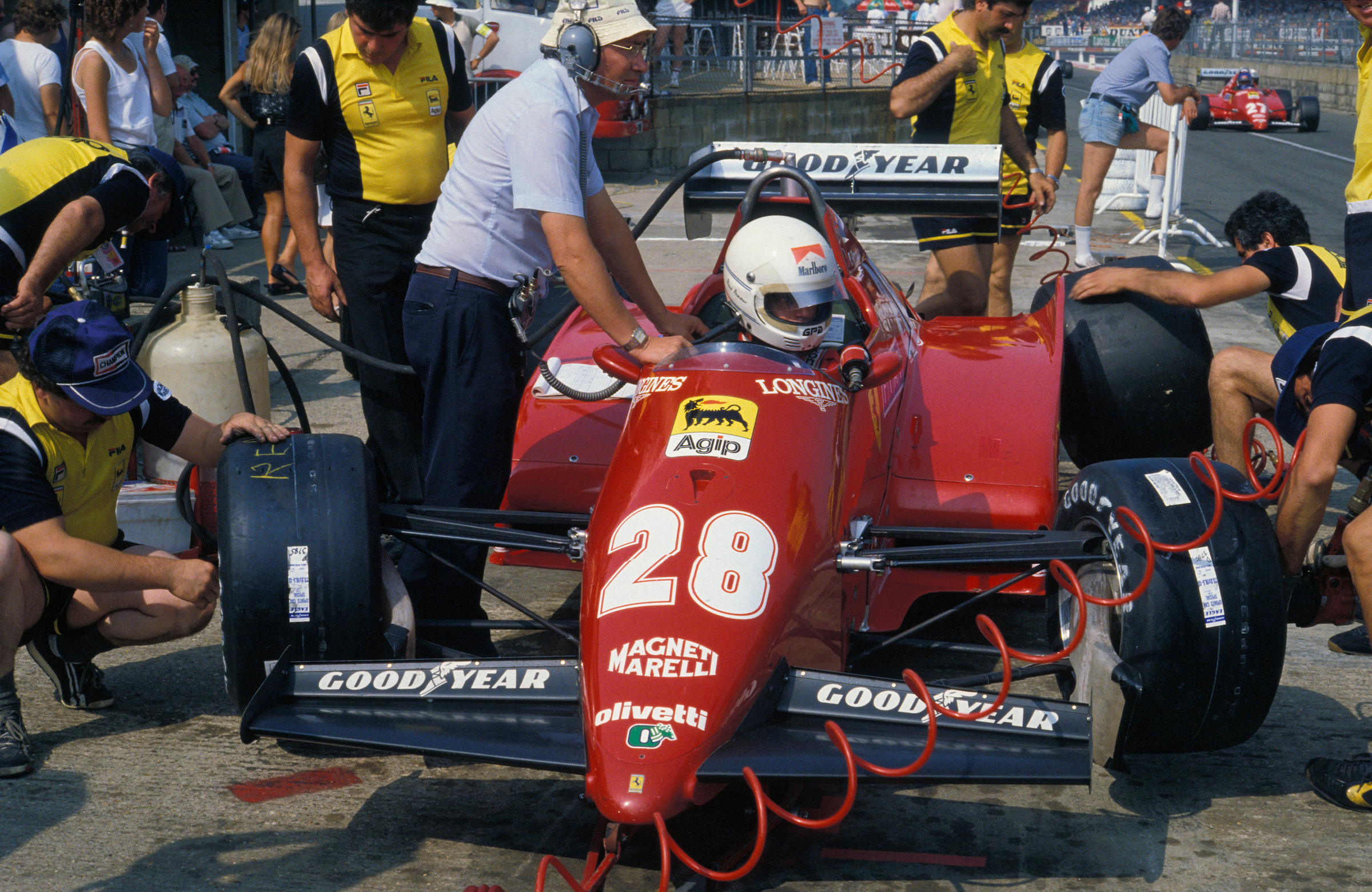 Rene Arnoux Ferrari 1983 Silverstone
